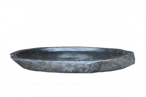 Steinschale, Vogelbad, polierte Oberfläche, Größe M