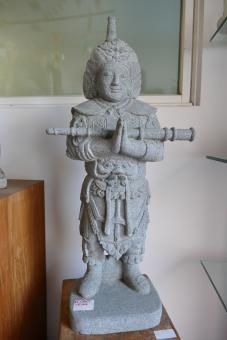 Chinesischer Krieger, Flussstein, 80 cm