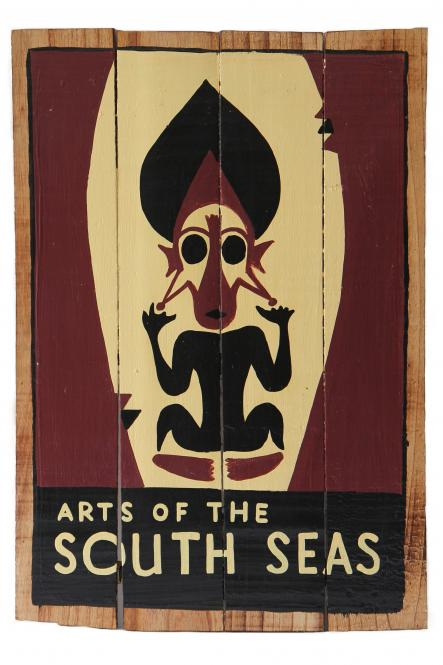 "SALE - Handbemaltes Schild  ""Arts of the south sea"""