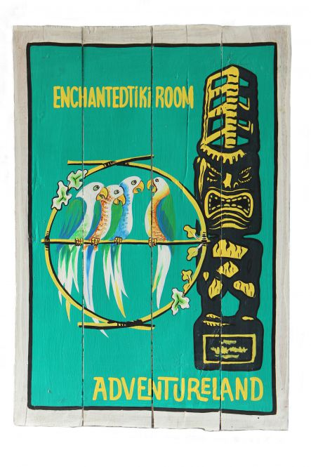 "Handbemaltes Schild ""Enchanted Tiki Room"""