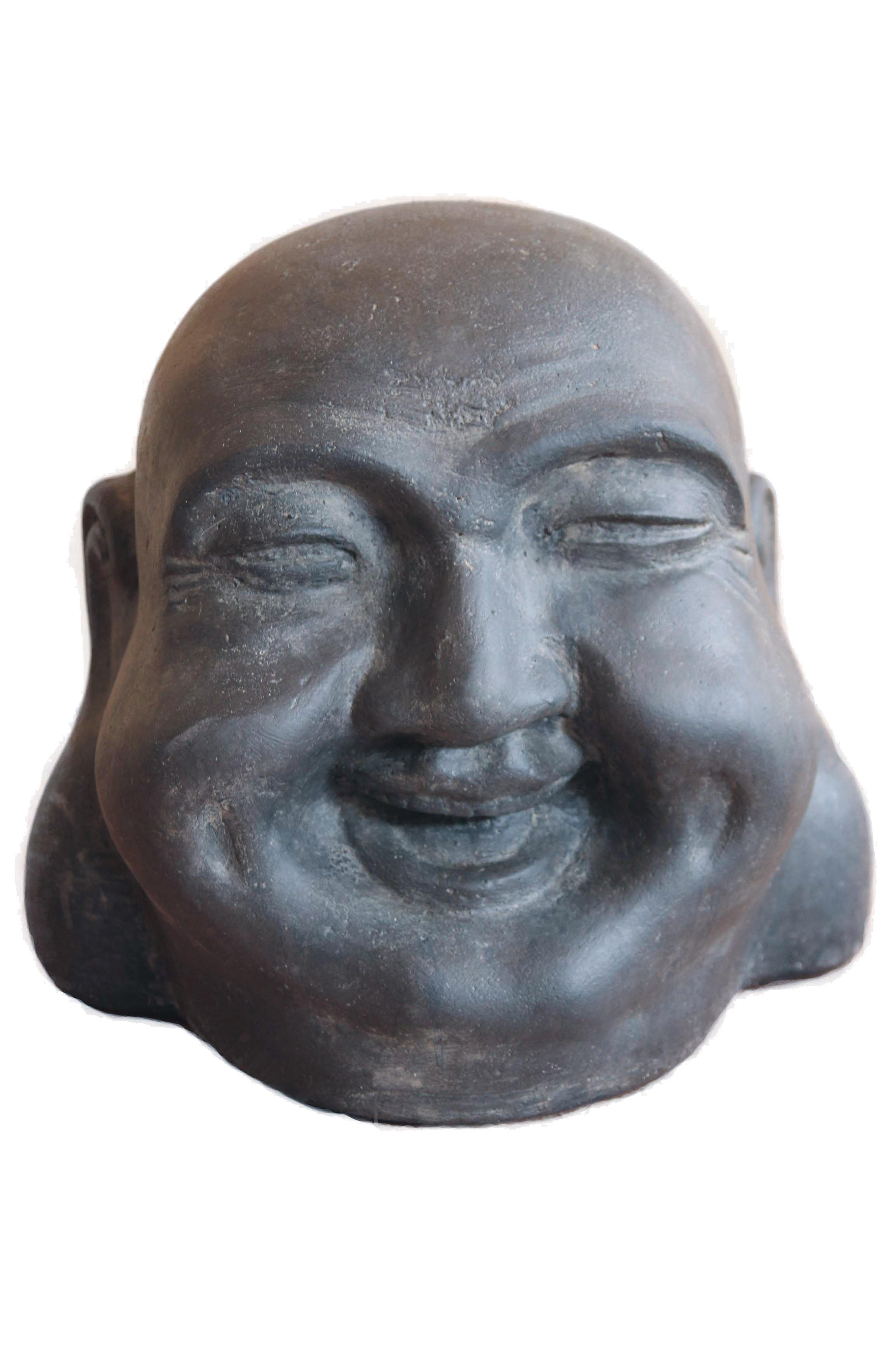 Asiastyle Chinesischer Buddha Kopf Lachend 40 Cm H