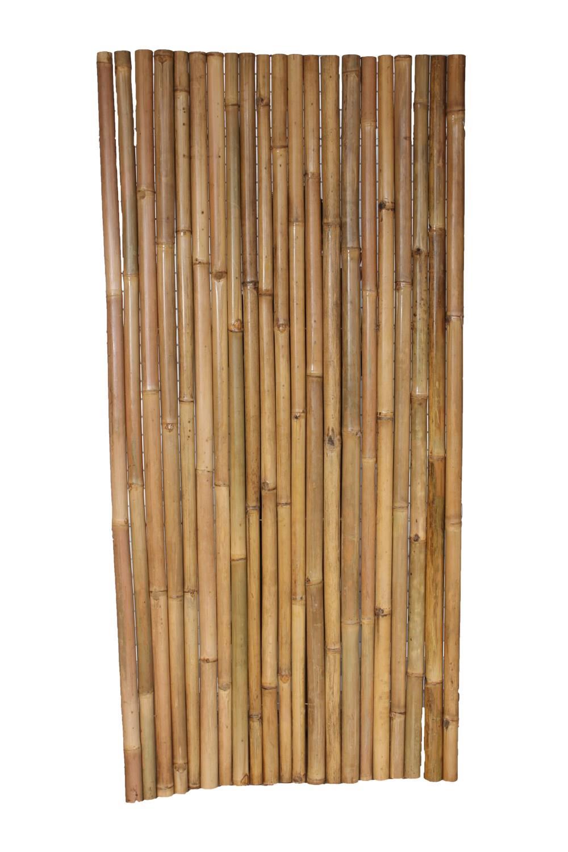 asiastyle | bambuszaun voll (gelb) flexibel auf draht, lackiert