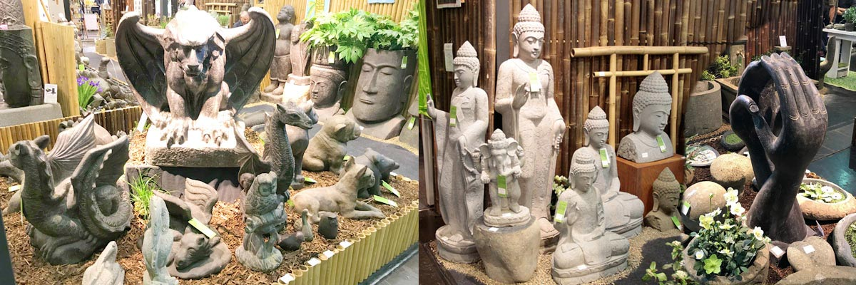 Steinfiguren, Gartenfiguren